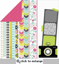 Happy Snaps: Instant 12 x 12 Double-Sided Cardstock