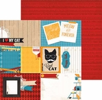 Happy Tails: Cat Nap 12 x 12 Double Sided Paper