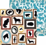 Happy Tails: Menagerie 12 x 12 Double Sided Paper