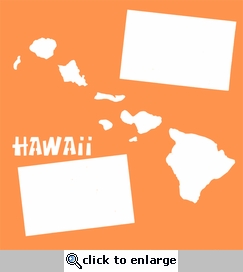 Hawaii 12 x 12 Overlay Laser Die Cut