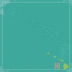 Hawaii Travels: HI Map 12 x 12 Paper
