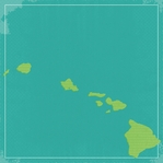 Hawaii Travels: HI state 12 x 12 Paper