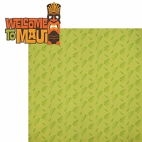Hawaii: Welcome to Maui 2 Piece Laser Die Cut Kit