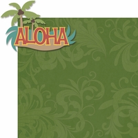 Hawaiian Getaway: Aloha 2 Piece Laser Die Cut Kit
