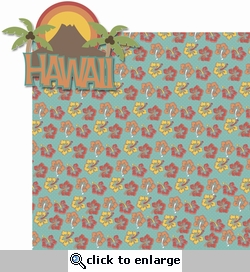 Hawaiian Getaway: Hawaii 2 Piece Laser Die Cut Kit
