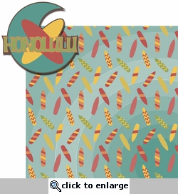 Hawaiian Getaway: Honolulu 2 Piece Laser Die Cut Kit