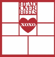 Head Over Heels XOXO 12 x 12 Overlay Laser Die Cut