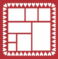 Hearts Border 12 x 12 Overlay Laser Die Cut