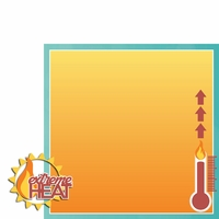 Heat Wave: Extreme Heat 2 Piece Laser Die Cut Kit