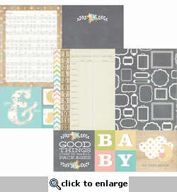 Hello Baby 4 x 4 Quotes & 6 x 8 Photo Mats