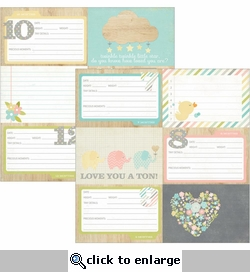 Hello Baby 4 x 6 Horizontal Journaling Cards 2