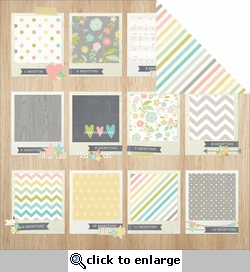 Hello Baby: Tiny Details 12 x 12 Double-Sided Cardstock