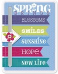 Hello Spring: Chipboard Slider Sticker