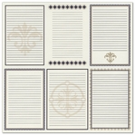 Heritage: Note Cards Vertical 12 x 12 Printed Bazzill Cardstock
