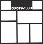 High School 12 x 12 Overlay Laser Die Cut