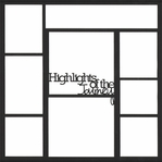 Highlights Of Our Journey 12 x 12 Overlay Laser Die Cut