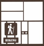 Hiking Sign 12 x 12 Overlay Laser Die Cut