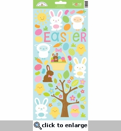 Hippity Hoppity Icon 6 x 12 Cardstock Sticker Sheet