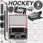 Hockey 12 x 12 Icon Sticker