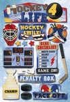 Hockey 4 Life Cardstock Sticker Sheet