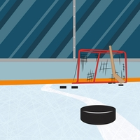 Hockey: Slap Shot 12 x 12 Paper