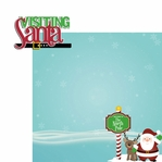 HoHoHo: Visiting Santa 2 Piece Laser Die Cut Kit