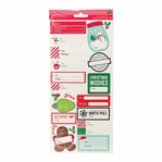 Home For Christmas Label 6 x 12 Cardstock Stickers