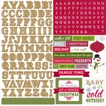 Home For The Holidays Alpha 12 x 12 Cardstock Stickers