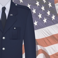 Home of the Brave: Airforce Uniform 12 x 12 Paper