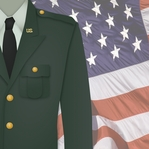 Home of the Brave: Army Uniform 12 x 12 Paper