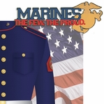 Home of the Brave: Marines 2 Piece Laser Die Cut Kit