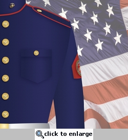 Home of the Brave: Marines Uniform 12 x 12 Paper