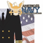 Home of the Brave: Navy 2 Piece Laser Die Cut Kit