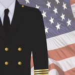 Home of the Brave: Navy Uniform 12 x 12 Paper