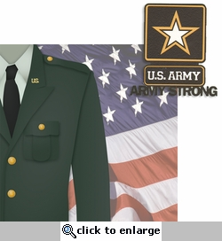 Home of the Brave: U.S. Army 2 Piece Laser Die Cut Kit
