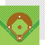 Home Run: Back Stop 12 x 12 Double-Sided Cardstock
