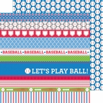Home Run: Baseballs 12 x 12 Double-Sided Cardstock