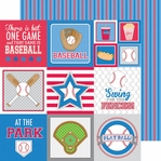 Home Run: Jersey Stripe 12 x 12 Double-Sided Cardstock