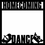 Homecoming: Homecoming Dance 12 x 12 Overlay Laser Die Cut
