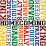 Homecoming: Homecoming Words 12 x 12 Paper