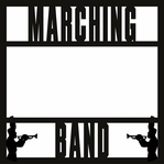Homecoming: Marching Band 12 x 12 Overlay Laser Die Cut