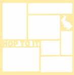 Hop To It: Bunny 12 x 12 Overlay Laser Die Cut