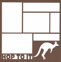 Hop To It: Kangaroo 12 x 12 Overlay Laser Die Cut