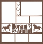 Horsing Around 12 x 12 Overlay Laser Die Cut
