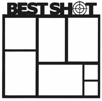 Hunting: Best Shot 12 x 12 Overlay Laser Die Cut