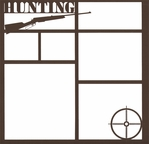 Hunting Rifle 12 x 12 Overlay Laser Die Cut