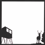 Hunting Season: Deer Hunt 12 x 12 Overlay Laser Die Cut