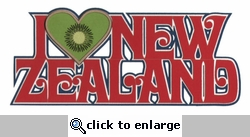 I Kiwi New Zealand Laser Die Cut