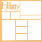 I Lightning Harry 12 x 12 Overlay Laser Die Cut
