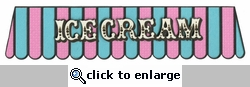 Ice Cream Border Laser Die Cut